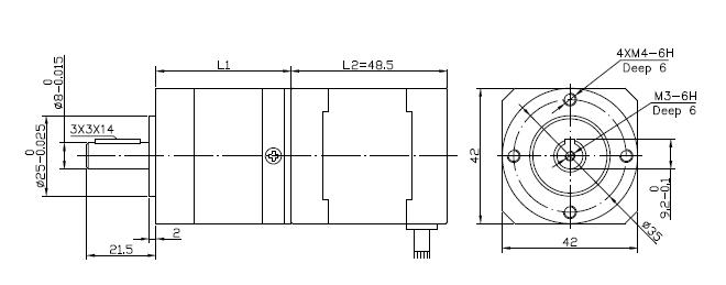 42 precision geared stepper motor changzhou kangda