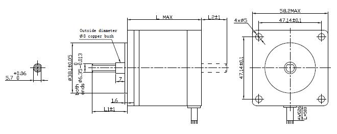 nema23 57mm 5phase 0 72 u00b0 hybrid stepper motor changzhou kangda tongyong electric co   ltd