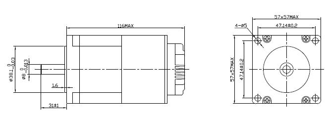 integrated closed loop stepper motor changzhou kangda tongyong electric co   ltd